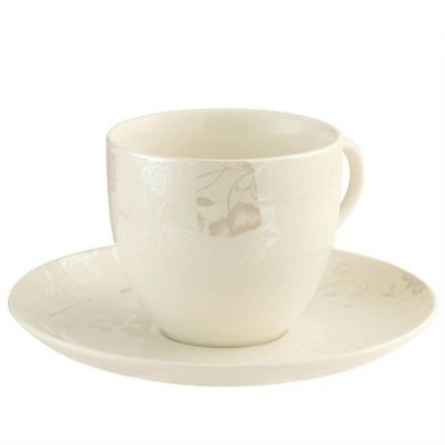 Belleek Living Evermore Teacup and Saucer (Set of 4)